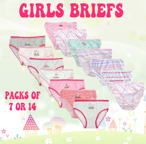 Disney Girls Pack of 3 or 6 Hipster Cotton Briefs Pants Knickers Underwear LOL