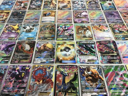 Pokemon 100 CARD LOT - GUARANTEED 1 GX or EX + 1 PACK + MEGA HYPER RARES & HOLOS <br/> BRAND NEW GX CARDS! FREE WORLDWIDE SHIPPING!! AUTHENTIC