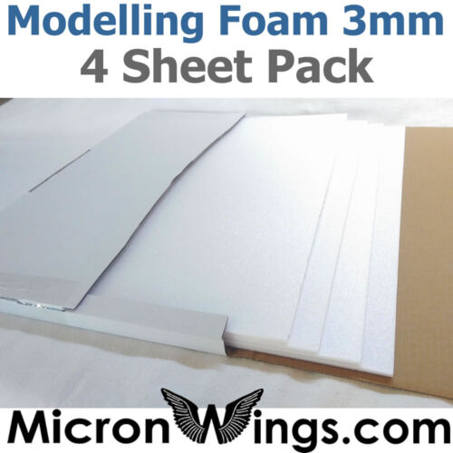 Modelling Foam Pack (Depron Replacement) - 3mm White (box of four sheets)