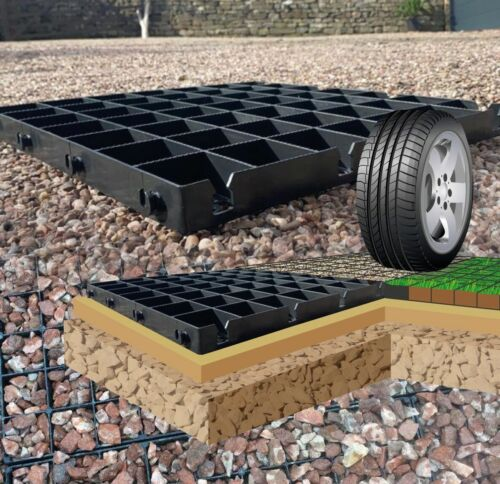 GRAVEL DRIVE GRIDS PARKING ECO GRASS DRIVEWAY GRID PLASTIC GEO GRID PAVING NW <br/> GUARANTEED 2 B UNBEATABLE AS WE ARE THE UK MANUFACTURER