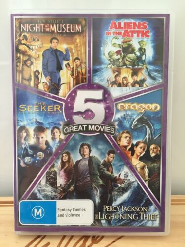 Night at museum Aliens in the attic eragon The lightning thief the seeker DVD