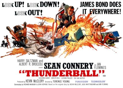 """Thunderball  (11"""" x 15.5"""") Movie Collector's Poster Print - B2G1F"""