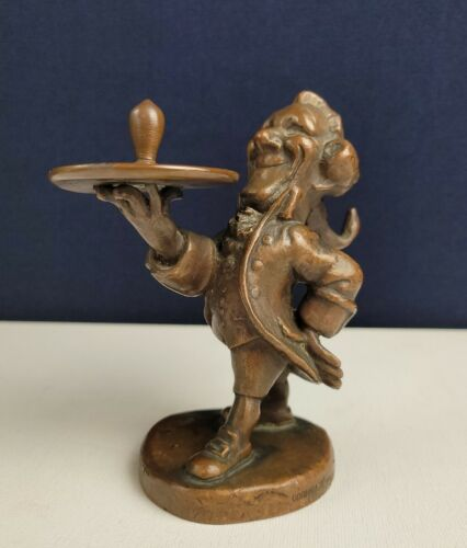 Antique Original Solid Bronze Fred Cooper by Gorham -Presenting the Light Bulb