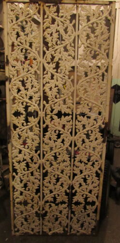 Heavy Cast Iron Panel 27 x 68 Oak Leaves Acorn Garden Architectural Salvage