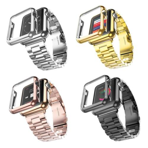Stainless Steel Wrist Bracelet Clasp iWatch Strap for Apple Watch Series 3/2/1