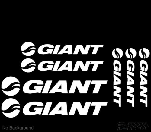 Giant Cycling Bike Stickers Set of 7 Frame Replacement Decals Road Race Mountain