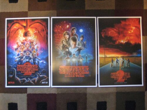 """Stranger Things (11"""" x 17"""")  Collector's Poster Prints  ( Set of 3 )"""
