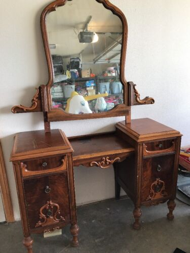 Antique Vanity Dresser With Mirror PICK UP ONLY NO SHIPPING
