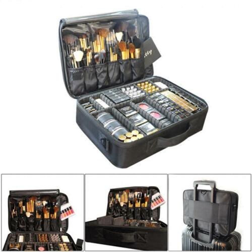 Pro Cosmetic Makeup Case Travel Large Capacity Storage Suitcase Organizer Bag