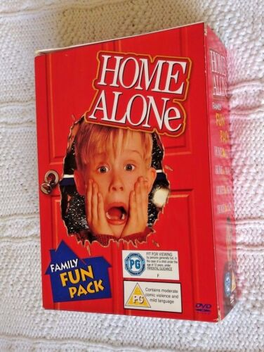 HOME ALONE COLLECTION 1, 2,3, 4 (DVD, 4-DISC BOX SET) R-2, LIKE NEW, FREE POST