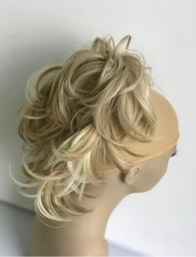 New Comb Clip in Synthetic Hairpiece Scrunchies Straight ponytail bendable Updo
