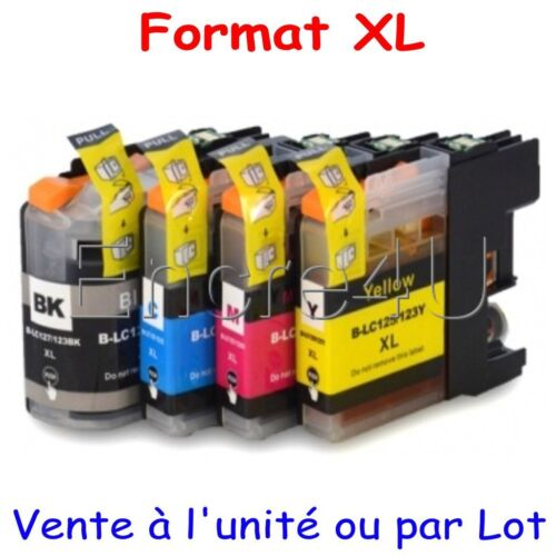 Encres compatibles Brother MFC J6520DW : cartouches LC123 XL x1 4 5 8 9 10 12 16