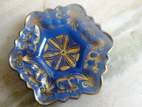 VERY RARE INDIAN MUGHAL ANTIQUE BALOW GLASS SMALL PLATE OLD AND GENUINE ITEM
