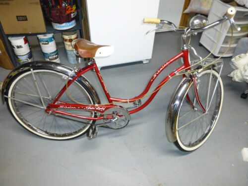 3147e58ccec Buy: $1800.0 Rare vintage 1959 Schwinn Fair Lady 3 Speed bicycle - All  original Radiant red!Complete