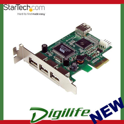 Startech 4 Port PCI Express Low Profile High Speed USB Card