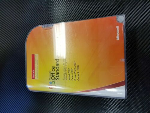 Microsoft Office 2007 Standard Upgrade Version w/ Product Key Number Box & Disc