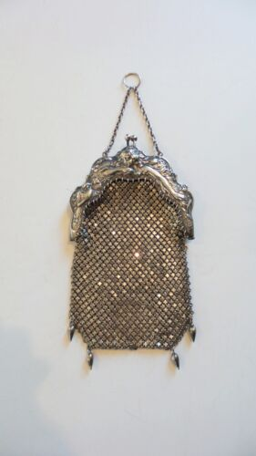 Sterling Silver Mesh ART NOUVEAU Handbag, R. Blackinton, c. 1900