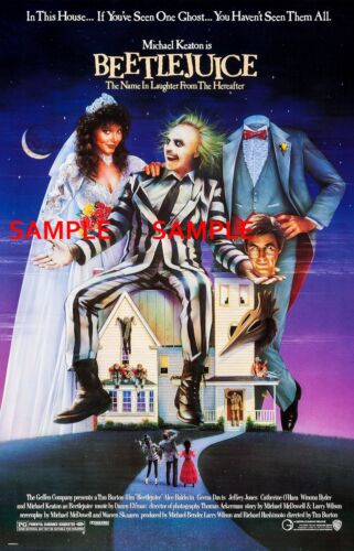 "Beetlejuice ( 11"" x 17"" ) Movie Collector's Poster Print - B2G1F"