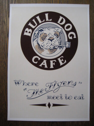 "The Rocketeer ( 11"" x 15-3/4"" ) Bulldog Cafe Menu Poster - B2G1F"