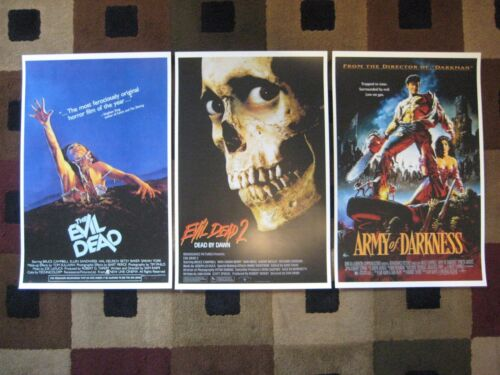 "Evil Dead Trilogy - (11"" x 17"") - Movie Collector's Poster Prints ( Set of 3 )"