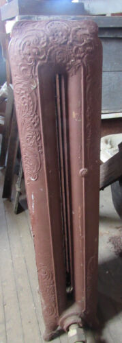 American Victorian Cast Iron Steam Radiator Home Architectural Salvage Four Fin