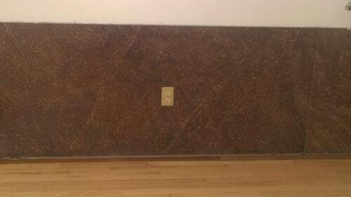 """70 x 32"""" Slab of Kentucky Marble 1950's Mocha Tone Vintage Architectural Salvage"""