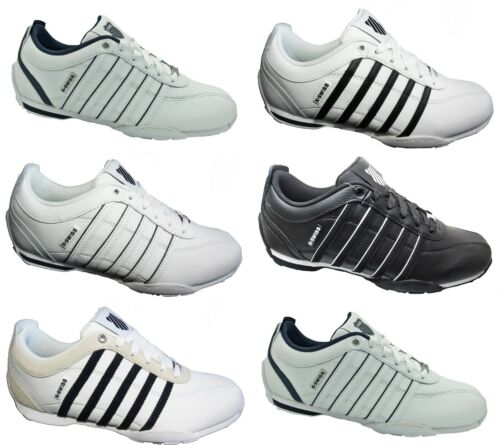 Mens K-SWISS Trainers Arvee 1.5 Classic Leather Shoes White New Sale Size 7-12