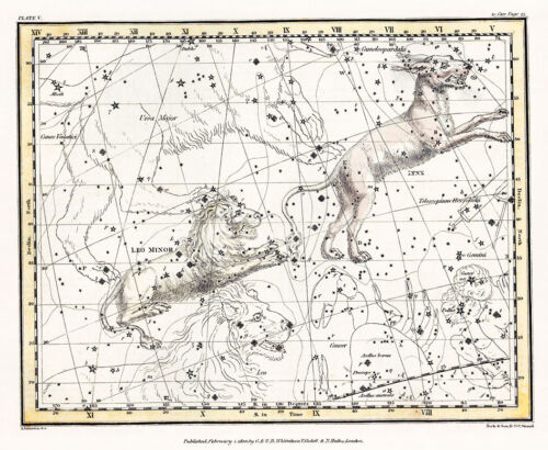 Astronomy Celestial Atlas Jamieson 1822 Plate-05 Art Paper or Canvas Print