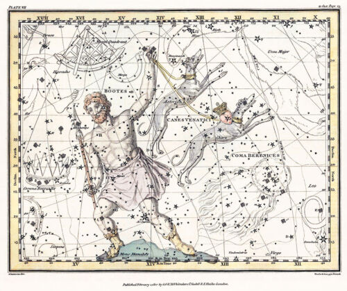 Astronomy Celestial Atlas Jamieson 1822 Plate-07 Art Paper or Canvas Print