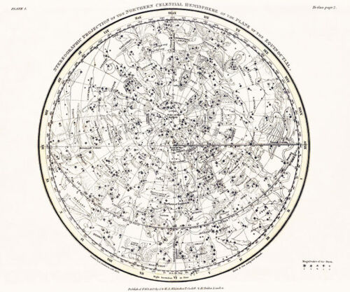 Astronomy Celestial Atlas Jamieson 1822 Plate-01 Art Paper or Canvas Print