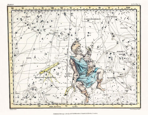Astronomy Celestial Atlas Jamieson 1822 Plate-04 Art Paper or Canvas Print