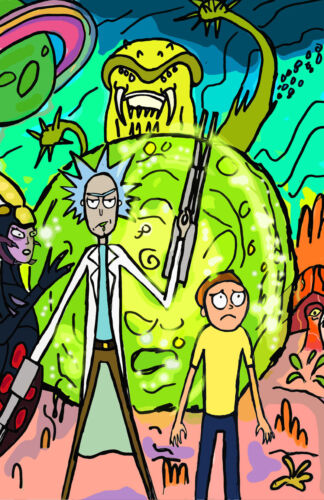 11x17 13x19 NEW Rick and Morty Art Collage Poster All Characters