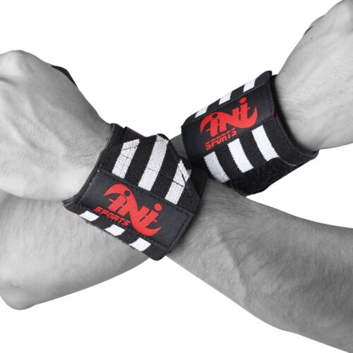 Weight Lifting Wrist Wraps Power Gym Training Straps Hand Bar Grip Support Brace