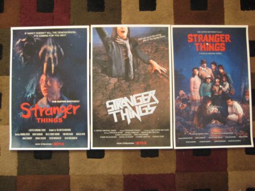 "Stranger Things ( 11"" x 17"" )  Movie Collector's Poster Prints (Set of 3)"