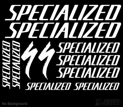 Specialized Decals Set 11 Cycling Bike Stickers Outdoor Grade Vinyl Any Colour