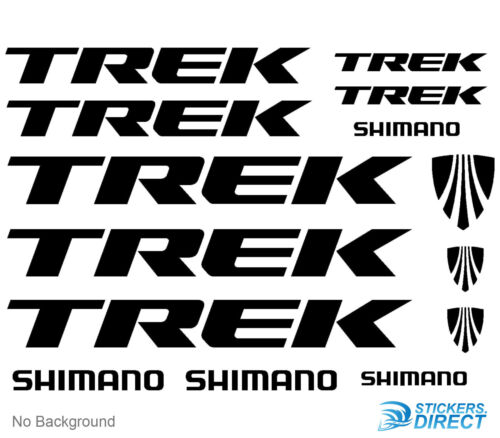 Trek Decals Set of 14 Cycling Bike MTB Stickers Outdoor Grade Vinyl Any Colour