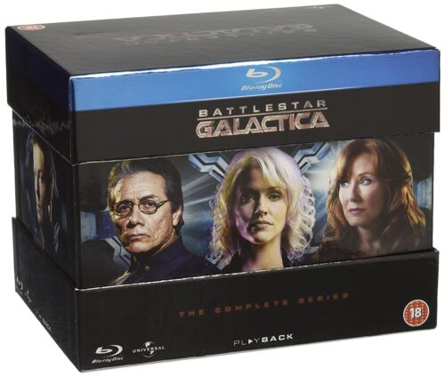 """BATTLESTAR GALACTICA COMPLETE SERIES COLLECTION BLU-RAY 21 DISC BOX SET RB """"NEW"""""""