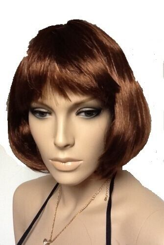 BROWN BOB STYLE FANTASTIC FANCY DRESS WIG. QUALITY UK SELLER