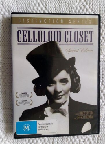 CELLULOID CLOSET- SPECIAL EDITION- DVD, R-ALL, LIKE NEW, FREE POST IN AUSTRALIA