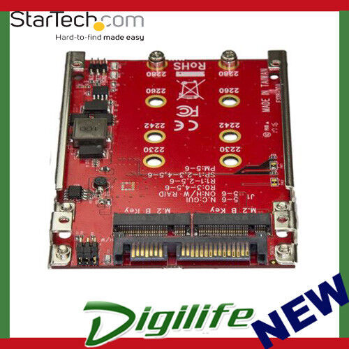 """STARTECH Dual-Slot M.2 Drive to SATA Adapter for 2.5"""" Drive Bay RAID S322M225R"""