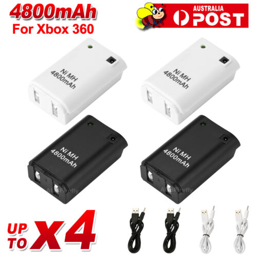 Rechargeable Battery + USB Charger Cable Pack for XBOX 360 Wireless Controller