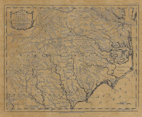 "Kitchin Map - ""THE SEAT OF WAR IN SOUTHERN PART OF VIRGINIA"" - Reproduction"