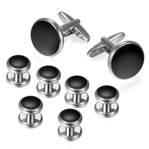 Mens Classical Shirt Tuxedo Cufflinks Wedding Party Buttons Cuff Links Studs Set