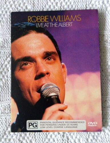 ROBBIE WILLIAMS – LIVE AT THE ALBERT- DVD, R: 2+3+4+5+6, LIKE NEW, FREE POST