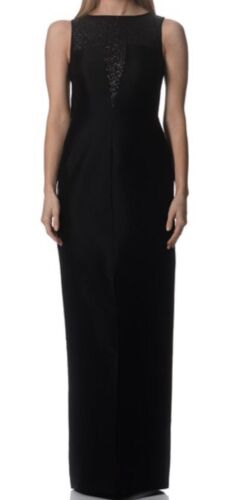 Raoul - Carly Black Sequined Column Gown - Size 8 (32) BNWT - RRP $800