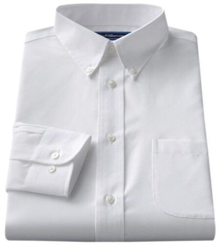 Men's Croft & Barrow Classic-Fit Easy Care Button Down Collar Dress White Shirt