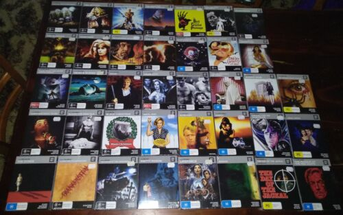*NEW & SEALED* Cinema Cult Blu Ray Movies: Horror / Thriller & More Region B AUS <br/> All titles NEW in shrink wrap, nice cardboard slipcases