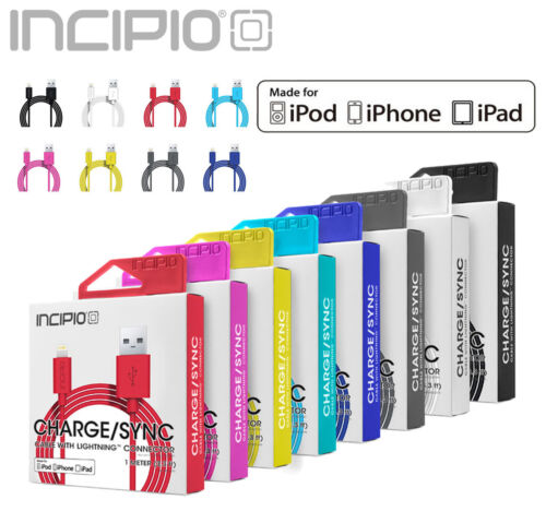 Lightning Cable, Incipio® 3ft USB Apple MFi Certified Charger for iPhone, iPad