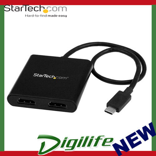 STARTECH USB-C to 2x HDMI Multi-Monitor Adapter Thunderbolt 3 Compatible