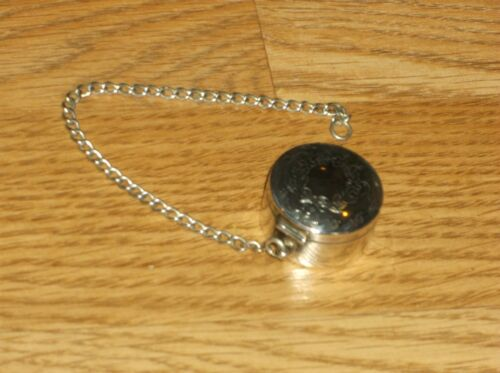 VINTAGE WEBSTER SMALL ROUND STERLING SILVER MOURNING/COMPACT/LOCKET/PILL BOX!!